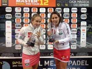 Carolina Navarro y Ceci Reiter, tras ganar el Master 2012