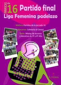 ultima jornada liga femenina padelazo el consul