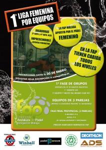 cartel liga femenina FAP Malaga