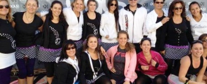 Allemandi, de clínic con las chicas de la Liga Femenina Padelazo