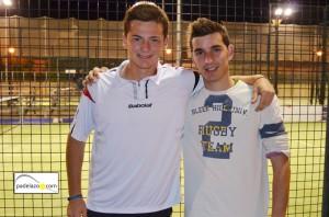 Cayetano Rocafort y Jose Huertas Tigre campeones final 2 masculina Torneo Scream Padel Casamar Racket Club Fuengirola enero 2013