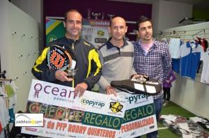 Luis Montañez y Juan Jose Hinojosa campeones 2 masculina torneo padel mi colchon ocean padel enero 2013