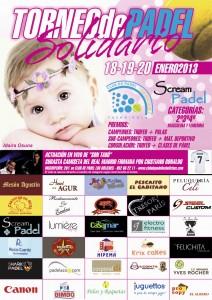 Cartel Torneo Solidario Padel Idaira Club Los Boliches enero 2013