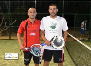 campeones fran tobaria y sergio beracierto final 1 masculina torneo padel shoppingoo colegio los olivos malaga febrero 2013