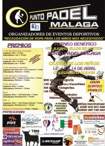cartel torneo punto padel beneficio los olivos abril 2013