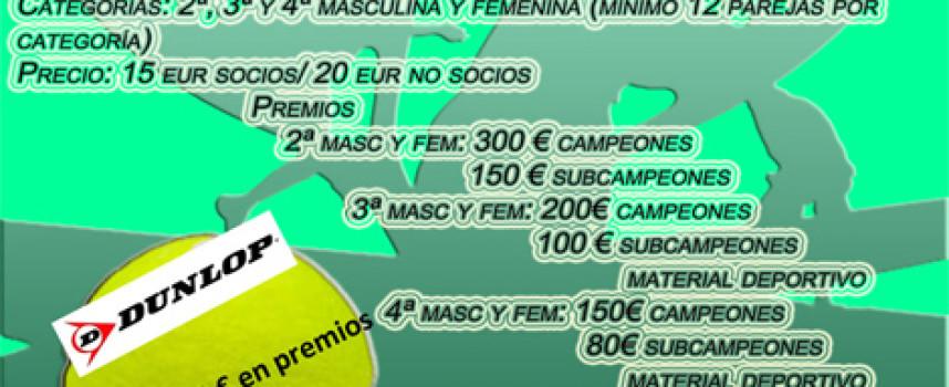 Más de 3000 euros en premios en el VI Open de Pádel Primavera del club Matagrande de Antequera