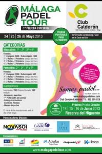 cartel malaga padel tour mayo 2013