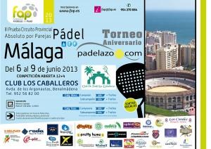 cartel III Prueba Provincial Padel FAP Malaga Torneo Aniversario Padelazo Los Caballeros