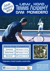 cartel escuela tenis lew hoad daniel monedero julio agosto 2013