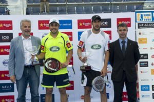 bela y juan martin diaz final world padel tour barcelona 2013
