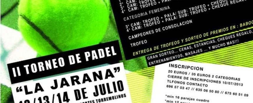II Torneo de Pádel La Jarana en Torremolinos
