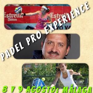 cartel padel pro experience agosto malaga carolina navarro vanesa zamora makin events 2013