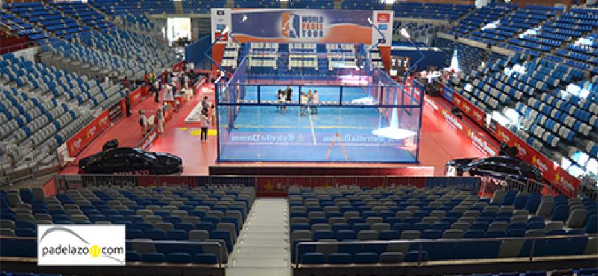 El Palacio Martín Carpena de Málaga, preparado para el espectáculo del Costa del Sol International Open