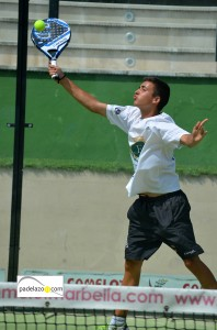 entrada Antonio Mata padel 2 masculina Open Adiction torneo Real Club Padel Marbella agosto 2013