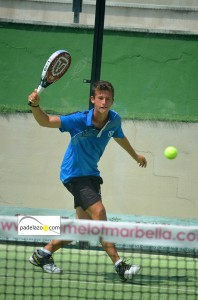 entrada Manu Rocafort 5 padel 2 masculina Open Adiction torneo Real Club Padel Marbella agosto 2013