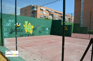 entrada vandalismo 8 pista liga padel virreinas malaga