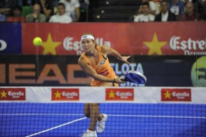 Carolina Navarro final femenina Bilbao World Padel Tour. Foto WPT.
