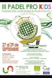 cartel III Torneo Pro Kids Prodigy Academy Los Naranjos Marbella septiembre 2013