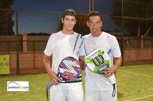 Manu Fernandez y Leandro Chino Muñoz padel final de 1ª del torneo steel custom en fuengirola hotel myramar octubre 2013