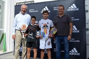 alex ramillete e iker del valle campeones alevin masculino master de padel de menores 2013 valencia tutempo octubre