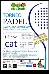 cartel torneo padel pro equipos veteranos club el candado noviembre 2013