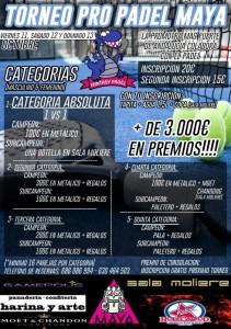 cartel torneo pro padel maya en fantasy padel octubre 2013