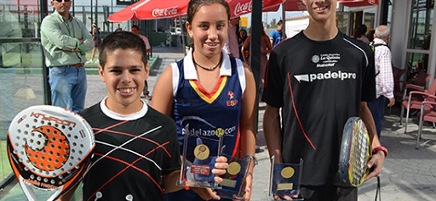 Málaga deslumbra con tres títulos en el Master de Padel de Menores 2013