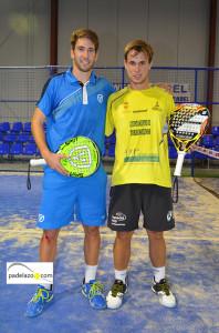 Ale Ruiz y Ernesto Moreno campeones final 1 masculina torneo Poligono San Luis en Fantasy Padel noviembre 2013