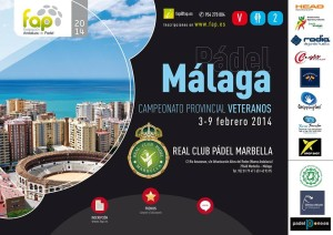 cartel campeonato provincial padel veteranos malaga real club padel marbella marzo 2014
