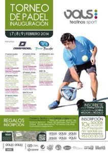 cartel torneo padel inauguracion vals sport teatinos febrero 2014