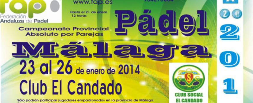 El Campeonato Provincial Absoluto inicia el calendario FAP con las dos coronas del padel malagueño en juego
