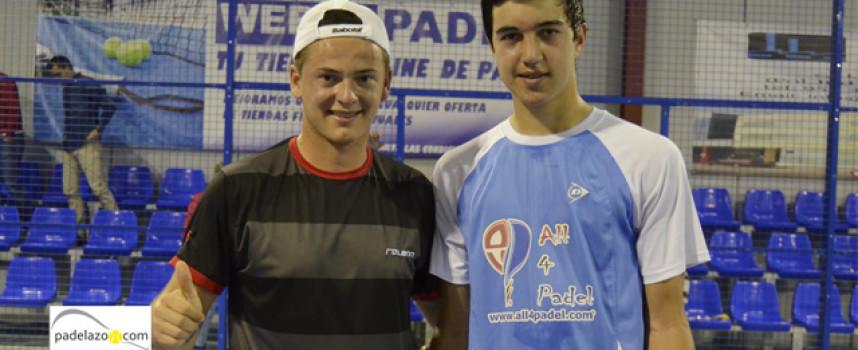 José Carlos Gaspar y Cayetano Rocafort eclipsan el juego de sus rivales para llevarse la final de 1ª en Fantasy Padel