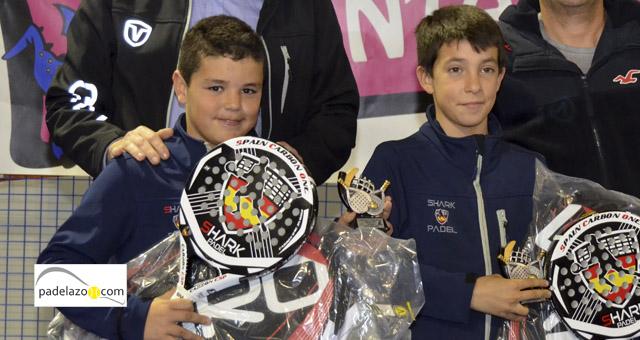 Fran Guerrero y Jose Mena campeones alevin masculino Campeonato de Padel de Menores de Málaga 2014 Fantasy Padel marzo 2014