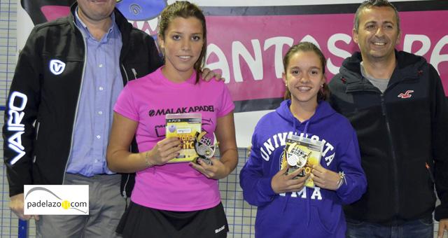 Sabina Baena y Elena Camacho subcampeonas junior femenino Campeonato de Padel de Menores de Málaga 2014 Fantasy Padel marzo 2014