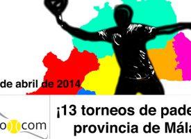 El padel se desata con una avalancha de 13 torneos en Málaga para empezar el mes de abril