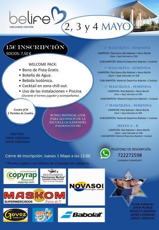 cartel torneo belife jorge cardenas y javi cardenas mayo 2014