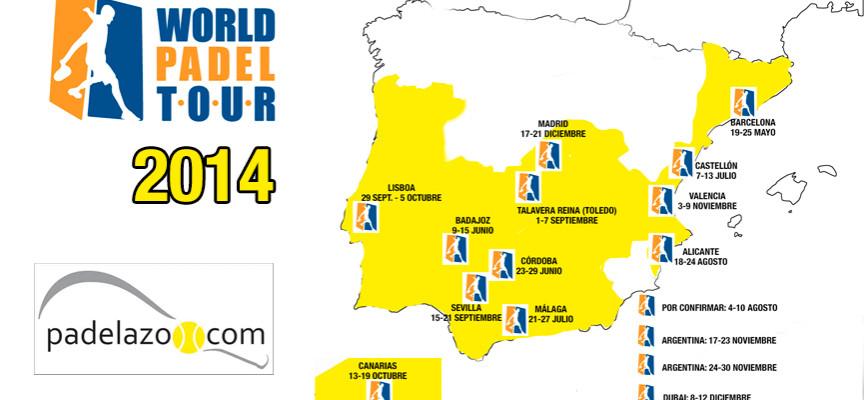 Calendario World Padel Tour 2014: la sede de Málaga es aún provisional