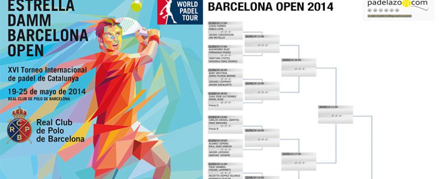 World Padel Tour Barcelona 2014: Cuadros y horarios