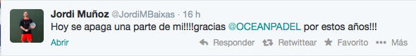 reaccion jordi muñoz twitter cierre ocean padel