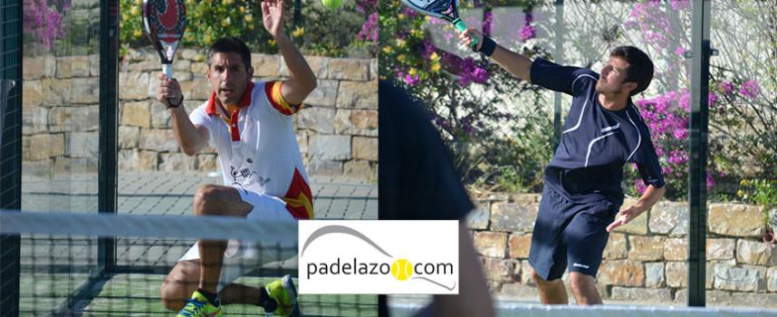 Mario Gutiérrez y Tomás Gómez salvan la emboscada en la final de 2ª del Torneo de Padel Belife