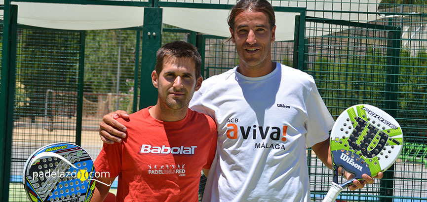 Javi Bravo y Antonio Portillo, tras ganar la final en el club Calderón.