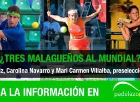Tres malagueños en la preselección española para el Mundial de Padel 2014