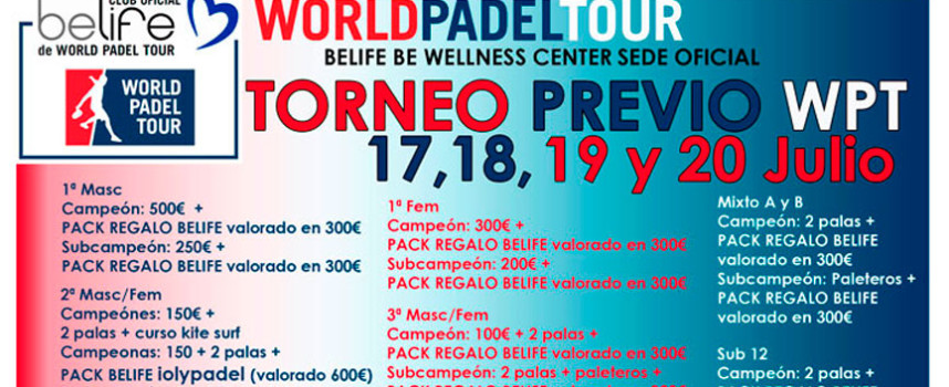 Málaga recibe el World Padel Tour con un espectacular torneo previo en Belife