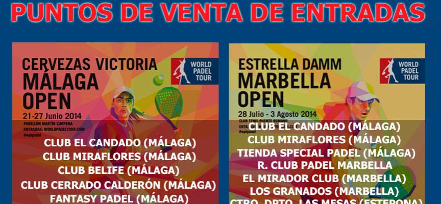 Entradas del World Padel Tour Málaga 2014: dónde comprar