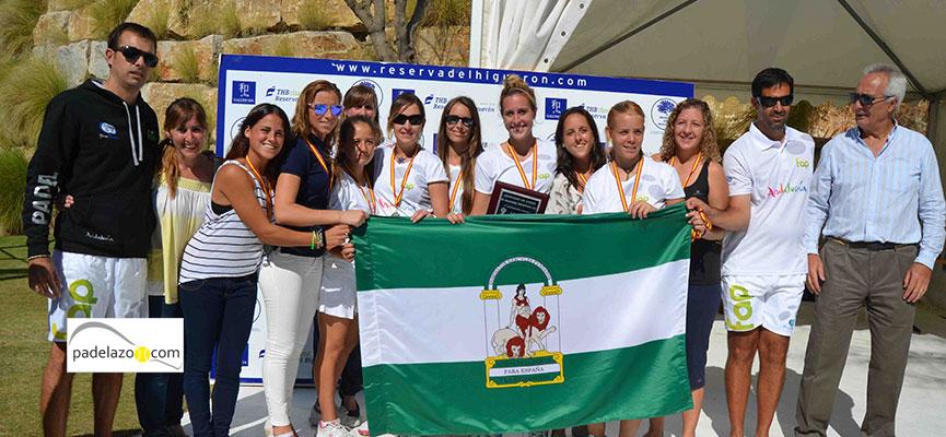 La selección femenina de Andalucía quedó subcampeona de España en 2013.