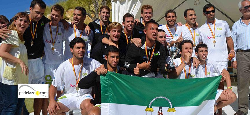 La selección masculina de Andalucía logró el campeonato de España de padel en 2013.
