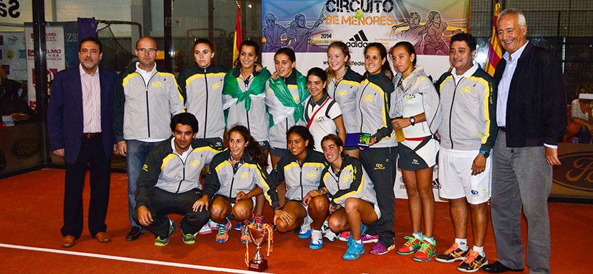 seleccion-femenina-andaluza-padel-campeonato-espana-padel-selecciones-autonomicas-menores-2014