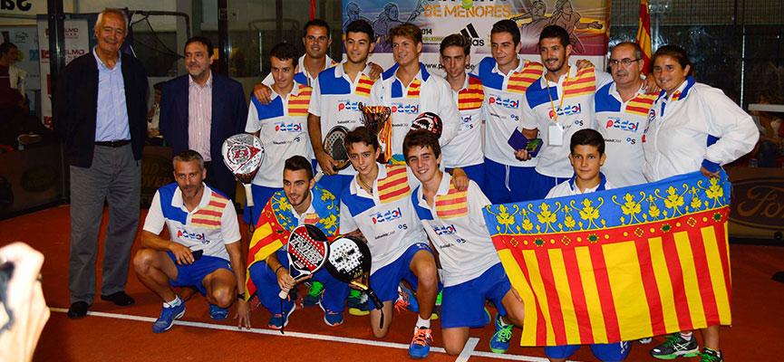seleccion-masculina-valencia-padel-campeonato-espana-padel-selecciones-autonomicas-menores-2014