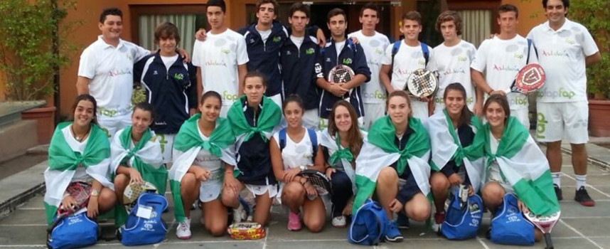 La cantera andaluza prepara la defensa de su doble corona en el Campeonato de España de Padel por Selecciones Autonómicas de Menores 2014