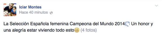 Icíar Montes, campeona Mundial Padel 2014.